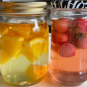 天然酵母 苺とオレンジ 3日目と4日目