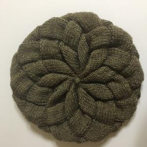 バスケット編み帽子 2