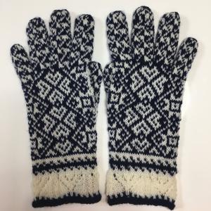 総編み込み手袋
