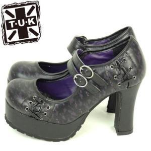 ちょっぴりハードな靴パンクロック系のTUK厚底パンプス