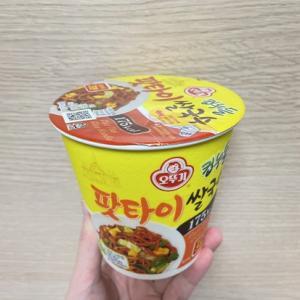 오뚜기のパッタイとトムヤムクンのライスヌードルを食べてみた。