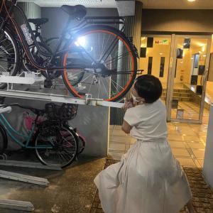 【夫婦日記】我が家の強者、自転車置き場