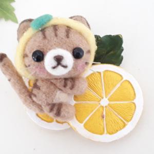 ☆羊毛フェルト☆ネコちゃんのマグネット♪