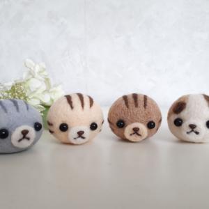 ☆羊毛フェルト☆ネコちゃんチクチク始めました♪