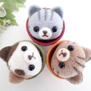 ☆羊毛フェルト☆ネコちゃん3匹♪