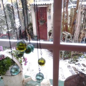 雪景色とカプチーノ