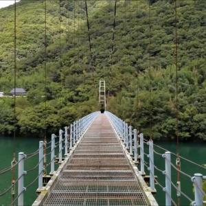 徳島県三好市池田町の吊り橋『敷之上橋』でスリルを味わう☆