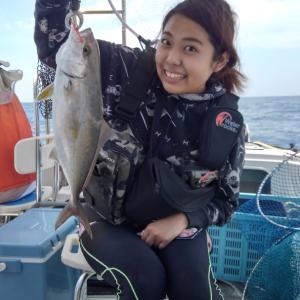凪、鯛ラバ出港