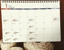 1月の教室日ご案内。