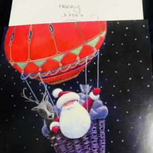 New Zealandから christmas cardが届く。