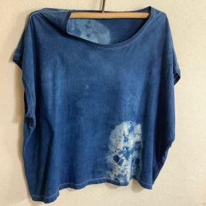 藍染 Tシャツを染めかえしました