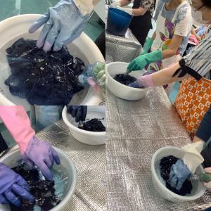 NHK学園 草木染め講座 2020年6月 藍染