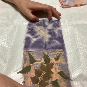 草木染めエコプリント サンプル作り ④