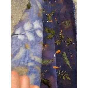 草木染めエコプリント サンプル作り ⑧  秋の味覚 梨を