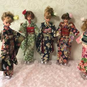 """""""ジェニー人形の着物を作る。"""" と決心してから 2年3ヶ月が過ぎました。"""