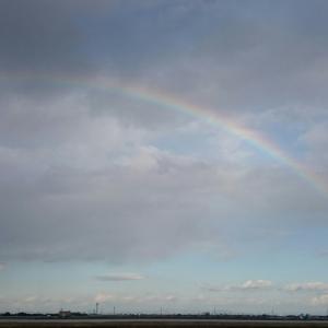 突然の虹出現 ラッキー・デイ?アンラッキー・デイ?