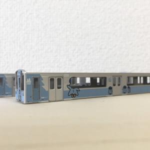 鉄コレ26弾を青い森701系モーリー塗装に塗り替えました その2