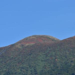 秋田駒ヶ岳、山頂は紅葉が始まっていた。