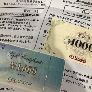 金券2000円分当選&任天堂スウィッチ懸賞