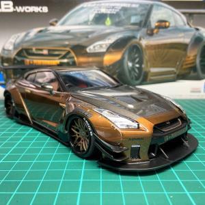 アオシマ「LB WORKS R35 GT-R」完成しました^^
