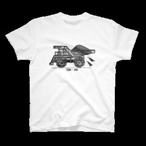 Tシャツはダンプカーのイラスト
