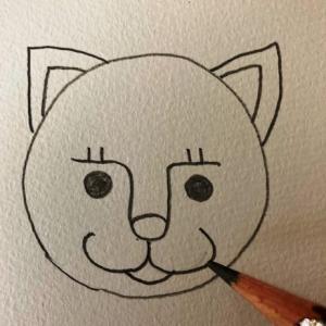 猫のイラストレッスンその4(全7回)口を描く