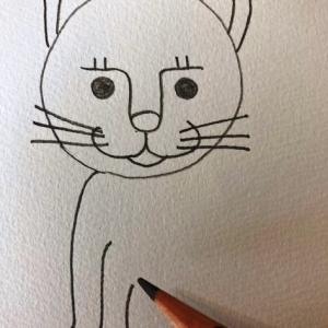 猫のイラストレッスンその6(全7回)前足を描く
