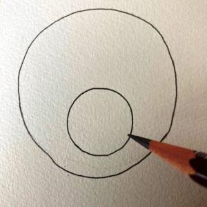 犬のイラストレッスンその1(全6回)マルを二つ描く