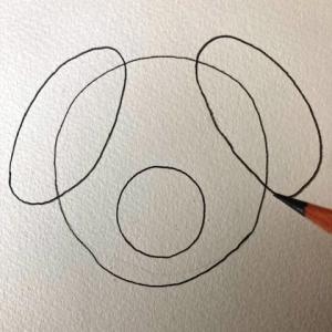 犬のイラストレッスンその2(全6回)耳を描く