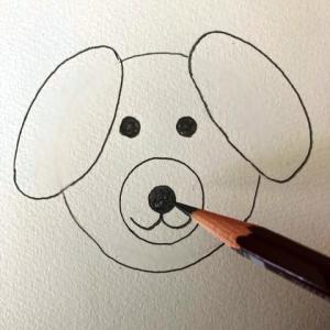 犬のイラストレッスンその5(全6回)鼻と口を描く