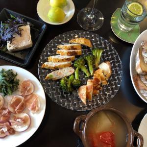家飲み:鎌倉で買ったものと家庭菜園の収穫で