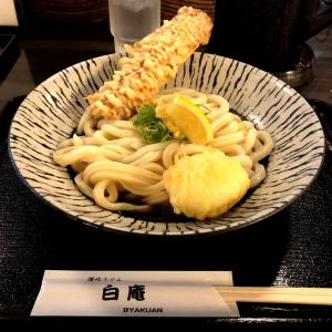 大阪のうどん「白庵」ボリューム満点!