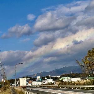 《空と雲》旅先で突然現れた大きな虹(三重県いなべ市)~とても力強くて優しい空に感謝して~