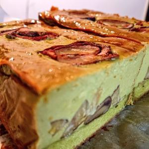 チーズのおやつ二種|和栗と抹茶のベイクドチーズケーキ、りんごとクリームチーズのバナナブレッド
