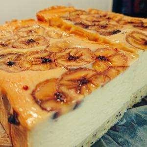 チーズのおやつ二種|完熟バナナのベイクドチーズケーキ、オリジナルケークサレ