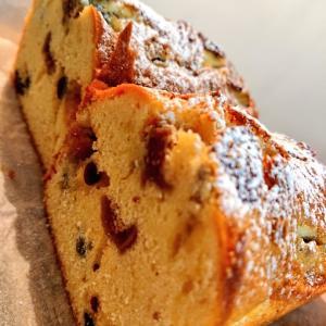 冬のフルーツパウンドケーキ、アーモンドとチョコレートパウンドケーキ