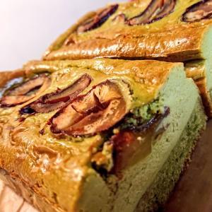 和栗と抹茶の、ベイクドチーズケーキ