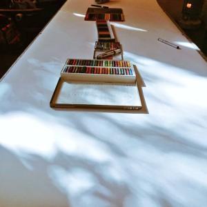 マルカフェ美術部/第四十三回「大きな画をかこう」開催しました!