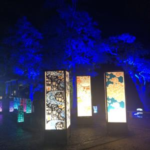 松江:神在月 水燈路ライトアップ