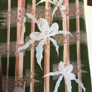 如月コーデ 其の二 四君子。蘭のお散歩着コーデで華道展へ。