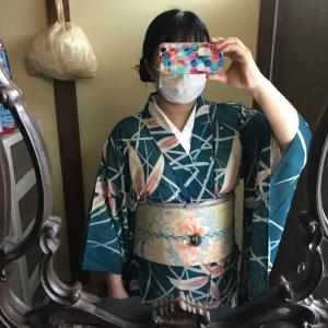 暮涼月のコーデ 其の二 着物の着回しコーデ  竹編