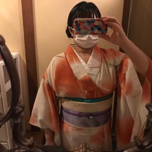 素月コーデ 其の一 菖蒲の暈しコーデのリアルタイムブログ。