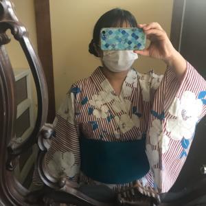 8月コーデ 其の一 浴衣を浴衣として着てみました。