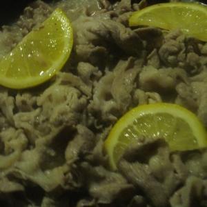 豚肉のレモン焼