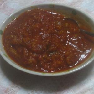 再びトマト煮込み