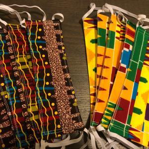 綺麗なアフリカの布でマスクを作る