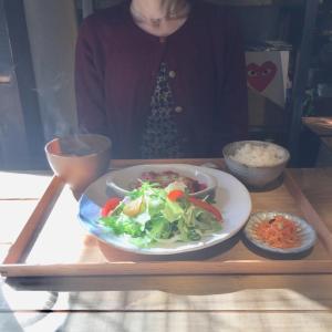 京都のカフェ。