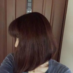 失恋して髪を切る。