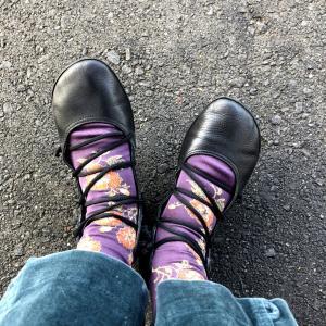 靴下コーデ。