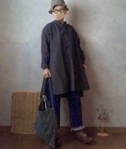 YAECAのチュニックとお帽子で●今日のスタイル●しまむら・アベイル・GU・YAECA・R.U.など